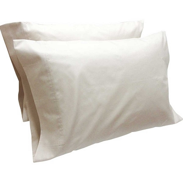 Cotton Percale Pillowcase Pair
